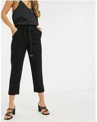 River Island Tailored Crepe jogger Pants - Black