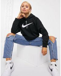 Nike Cropped Hoodie Met Logo - Zwart
