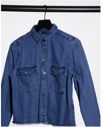 Salsa Georgia Denim Western Shirt With Tassle Detail - Blue