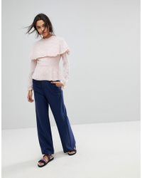 MAX&Co. - Max&co Wide Leg Zip Trousers - Lyst