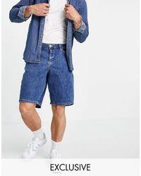 New Look Shorts vaqueros es holgados - Azul