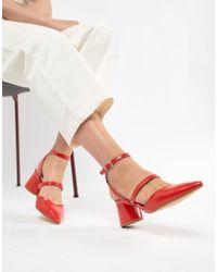 Talons Carrs Rouge Chaussures Multiples Et Brides v8wmN0n
