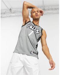 Nike Basketball Jordan Brooklyn Nets Nba Swingman Jersey - Grey