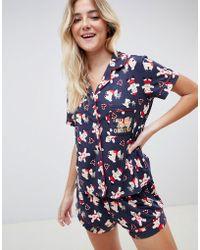 Chelsea Peers Gingerbread Short Pyjama Set