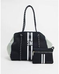 Steve Madden Shopper Bag With Stripe - Black