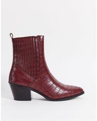 Vero Moda Western Boots - Red