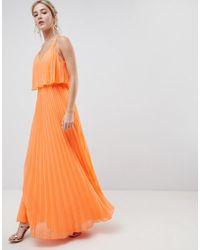 0e34881928c ASOS - Pleated Crop Top Maxi Dress - Lyst