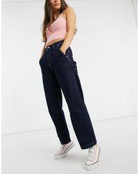 Pepe Jeans – Mellany – Workwear-Jeans mit hohem Bund - Blau