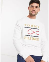 Tommy Hilfiger Sweatshirt Met Logo - Wit