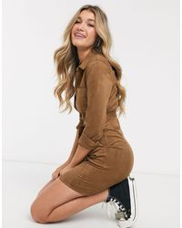 Abercrombie & Fitch Button Down Shirt Dress - Brown