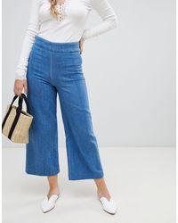 Free People Jeans lineari a fondo ampio - Blu