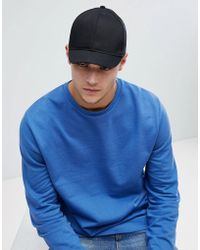 7f90812a451 New Look - Baseball Cap With Short Peak In Black - Lyst