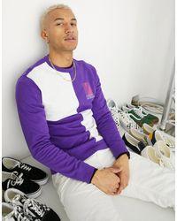 Vans Спортивный Свитер С Круглым Вырезом Retro-фиолетовый - Пурпурный