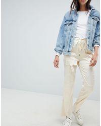 ASOS Pantalon style combat en satin - Multicolore