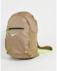 Nike Светло-бежевый Компактный И Легкий Рюкзак Stash-зеленый Цвет
