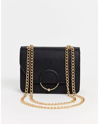 ASOS Ring And Ball Cross Body Bag With Interchangeable Chain Strap - Black