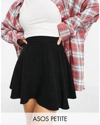 ASOS Minifalda negra con vuelo - Negro