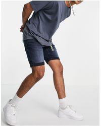 Tom Tailor Shorts vaqueros con lavado - Azul