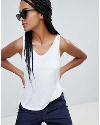 Mango - Round Neck Oversized Vest In White - Lyst