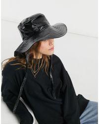 Pieces - Cappello da pescatore nero - Lyst
