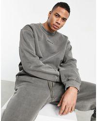 adidas Originals 'premium Sweats' - Overdyed Geribbeld Sweatshirt - Groen