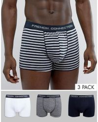 French Connection - Fcuk 3 Pack Boxers - Lyst