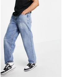 ASOS baggy Jeans With Sustainable 'less Thirsty' Wash - Blue
