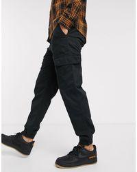New Look Cuffed Cargo Trouser - Black