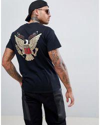Cheats & Thieves Camiseta con estampado de águila en la parte posterior - Negro
