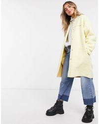 Daisy Street Текстурное Пальто Пастельного Оттенка -желтый