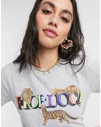 Fiorucci T-shirt à imprimé léopard - Gris