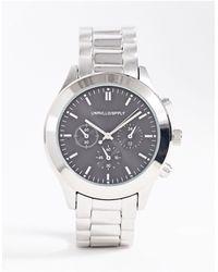 ASOS Серебристые Часы-браслет - Металлик