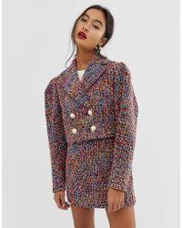 ASOS - Pop Boucle Suit Blazer With Statement Buttons - Lyst