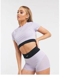 Nike Nike Pro Training Aeroadapt Cropped T-shirt - Purple
