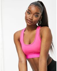 I Saw It First Gym Strappy Back Detail Sports Bra - Pink