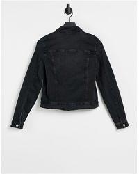 ONLY Черная Джинсовая Куртка -черный Цвет