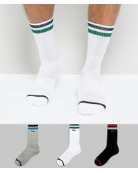 Pringle of Scotland - Socks In 3 Pack With Sport Stripe - Lyst