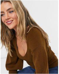 French Connection Светло-коричневый Джемпер С Пышными Рукавами -коричневый Цвет