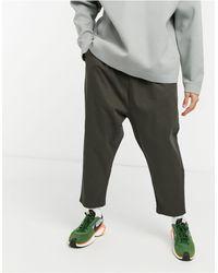 ASOS Pantalon chino à entrejambe bas - Kaki - Multicolore