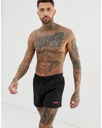 Calvin Klein Черные Шорты Для Плавания Icon - Черный