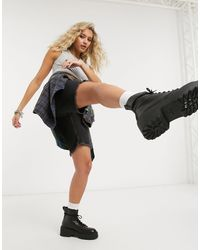 ASOS Denim Low Rise Relaxed Shorts - Black
