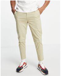 New Look Pantalon chino fuselé - Taupe - Multicolore