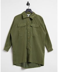 Object Oversized Shirt With Pocket Detail - Green