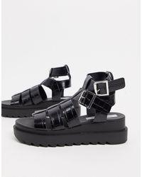 Steve Madden Zeeta Chunky Flatform Sandal - Black