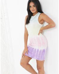 Volcom Vestido efecto teñido anudado Sure Burt - Multicolor