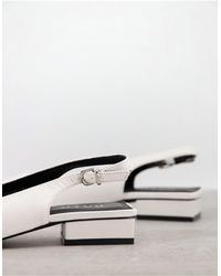 Raid Wide Fit Kinjal Sling Back Flat Shoes - White