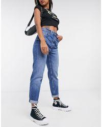 Bershka Mom Jeans - Blauw