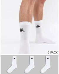 Kappa - 3 Pack Sock - Lyst