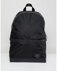 PS by Paul Smith - Nylon Backpack In Black - Lyst