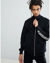 Criminal Damage - Track Top With Checkerboard Stripe - Lyst